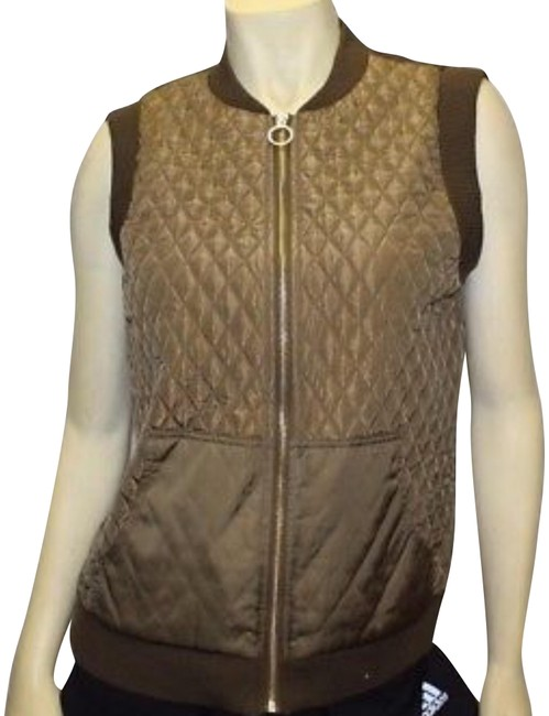 Preload https://img-static.tradesy.com/item/22428032/michael-kors-gold-and-brown-ntag-vest-size-8-m-0-2-650-650.jpg