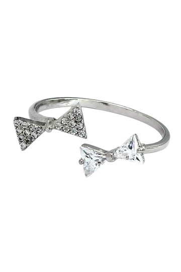 Ocean Fashion Bow open crystal ring