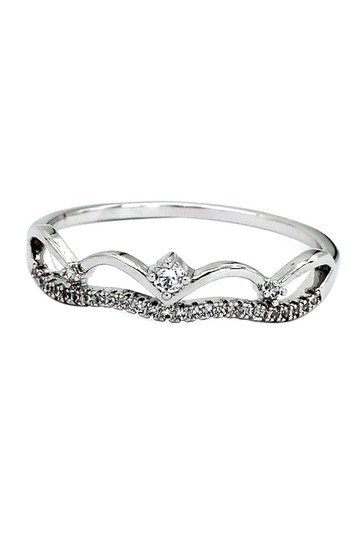 Preload https://img-static.tradesy.com/item/22428056/silver-simple-wave-row-with-crystal-ring-0-1-540-540.jpg