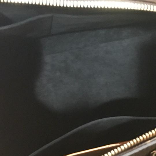 Louis Vuitton Satchel in monogram Canvas with blank leather trimming