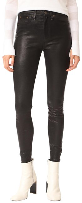 Item - Black Coated Leather Skinny Jeans Size 27 (4, S)