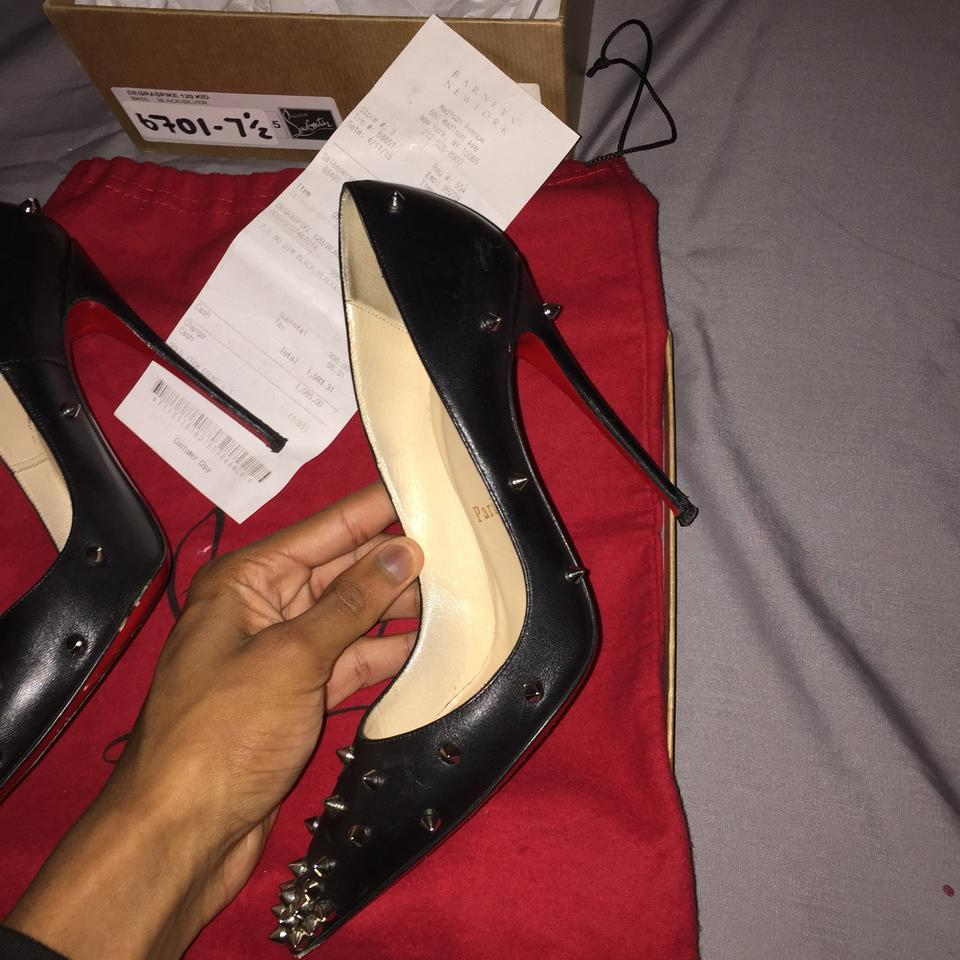 sale retailer 48f43 4a6c6 Christian Louboutin Black with Spikes and Red Bottoms Degraspike Pumps Size  US 7.5 Regular (M, B) 57% off retail