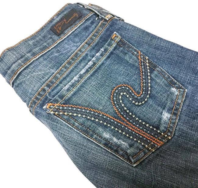 Item - Medium Wash Ric Rac Embroidered Pocket Boot Cut Jeans Size 26 (2, XS)