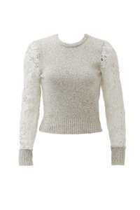 See by Chloé Floral Lace Marled Wool Sweater