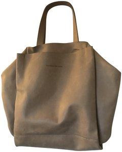 Monserat De Lucca Convertible Leather Convertable Supple Tote in Beige