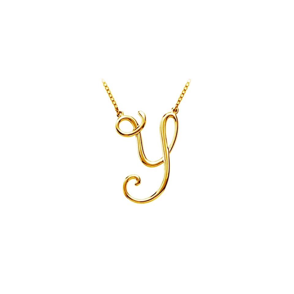 Yellow silver y script letter initial pendant 18k gold vermeil marco b y script letter initial pendant 18k yellow gold vermeil aloadofball Image collections