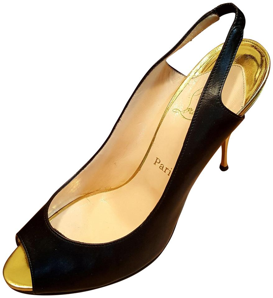 Christian Louboutin and Black and Louboutin Gold Twistoyoyo Pumps 27b013