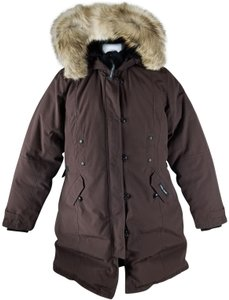 Canada Goose Two-way Zip Storm Placket Rib-knit Collar Duck Down Insulation Fur Coat