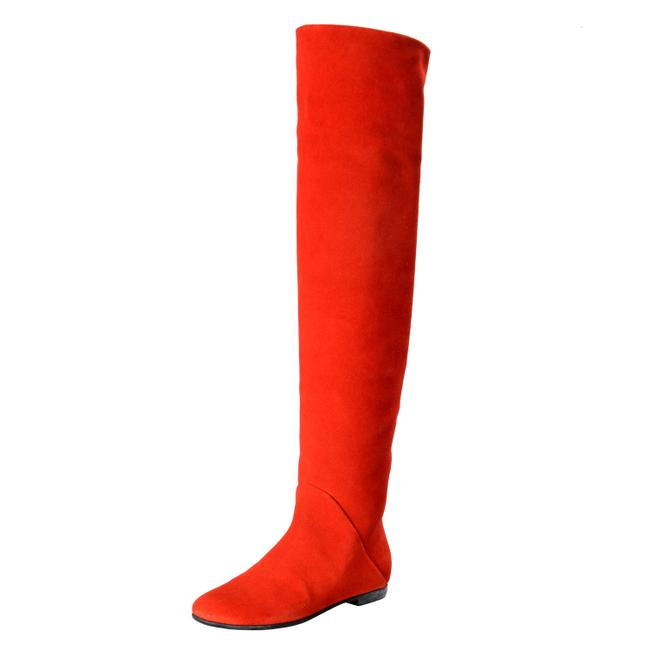 Item - Red Design Women's Suede Leather Boots/Booties Size US 6 Regular (M, B)