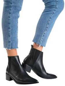 Miista Women Elastic Stylish Block-heel Chunky Black Boots