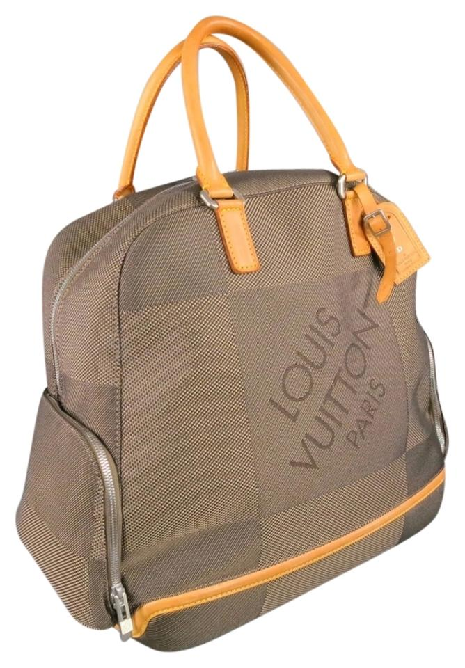 Louis Vuitton Damier Geant Aventurier Taupe Canvas Weekend Travel ... 502110769677c