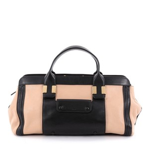 Chloe Leather Satchel in Nude