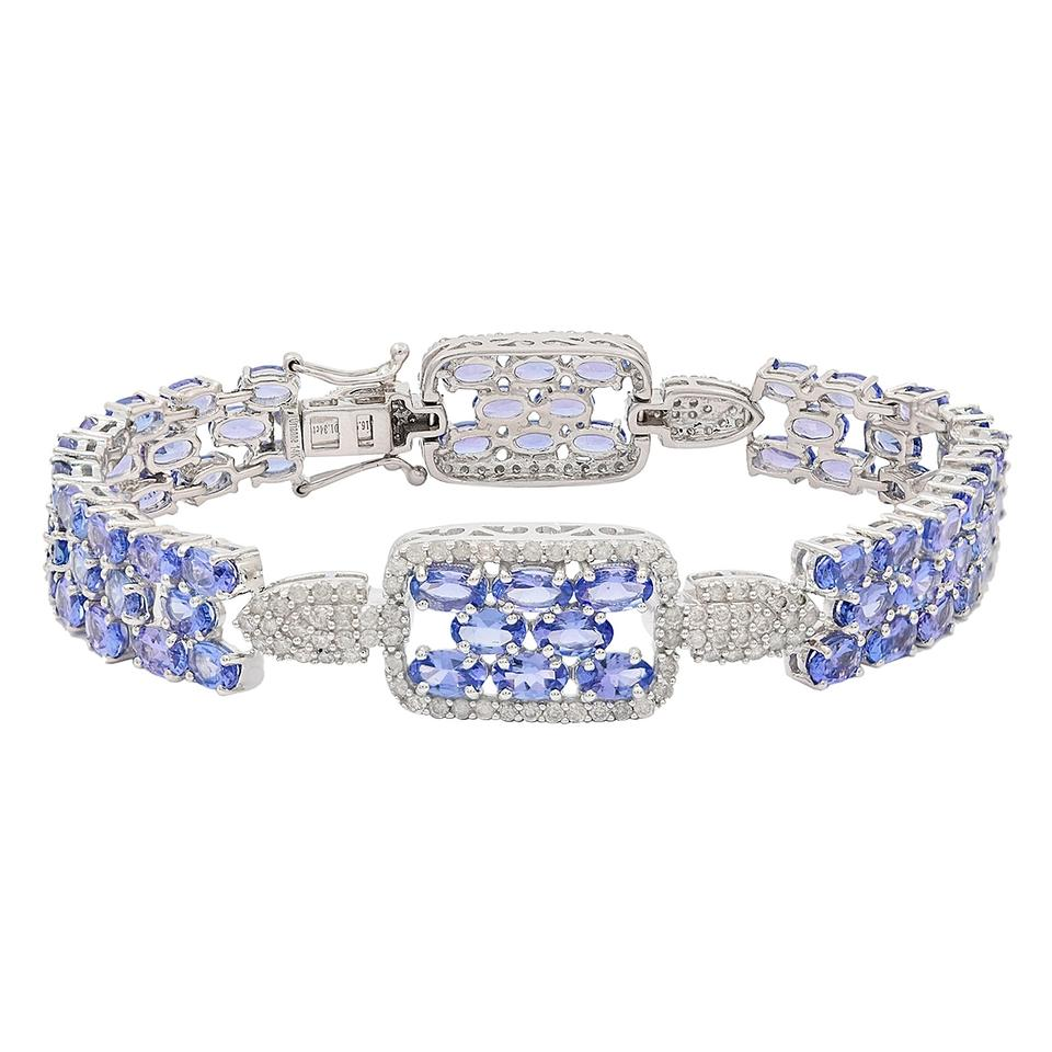 bracelet bangle with diamonds en silver bracelets and tanzanite