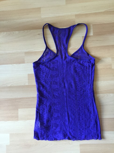 Free People Lace Evening Top Purple