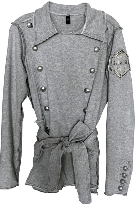 Item - Gray Military Style Jacket Size 4 (S)