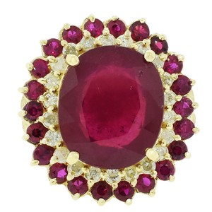 9.05ctw Ruby And 0.48ctw Diamond Ring