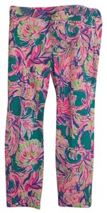 Lilly Pulitzer Straight Pants green, pink, blue, purple