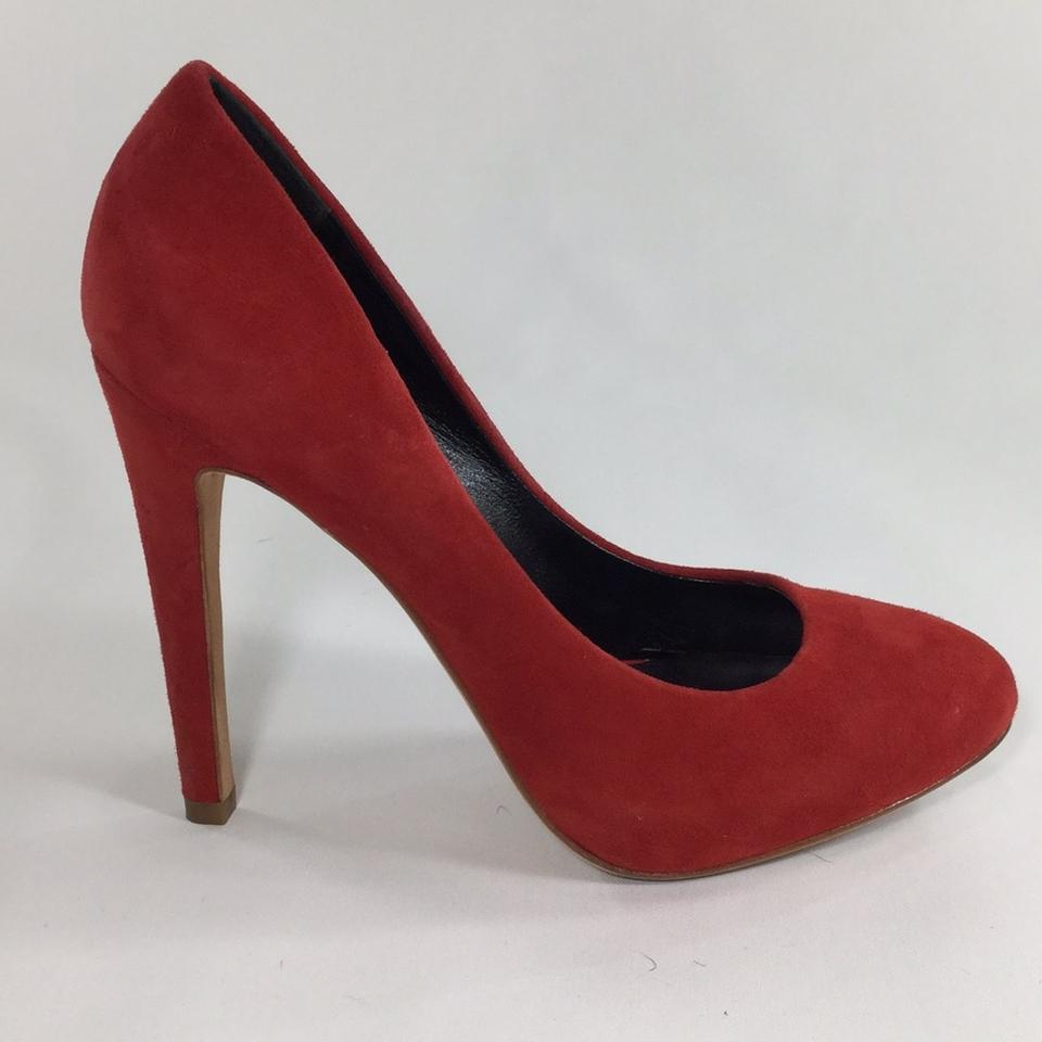 c56dec9506d8 Dolce Vita Red Suede Heel Platforms. Size  US 7.5 Regular (M ...