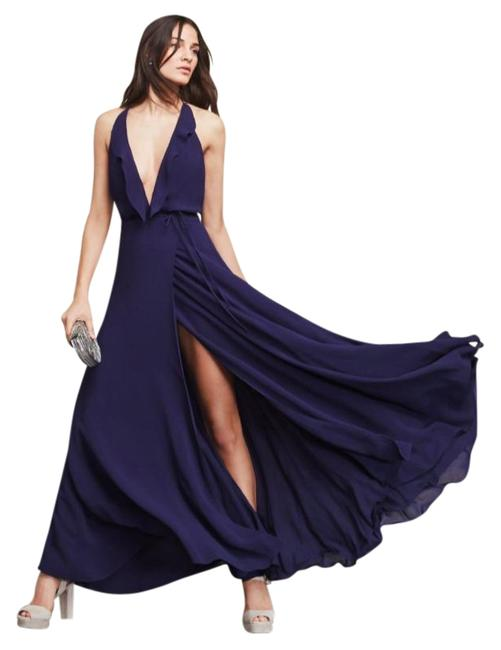 Item - Blue Arianna Maxi Long Night Out Dress Size 4 (S)
