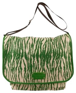 Kate Spade Animal Print Print Green Messenger Bag