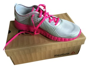 Reebok Grey and Pink Athletic