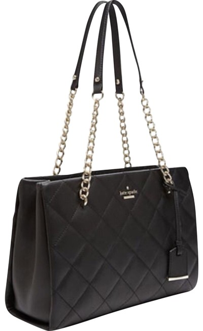 Item - Emerson Place Small Phoebe Black Leather Tote
