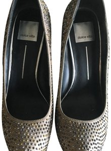 Dolce Vita silver and gold Platforms