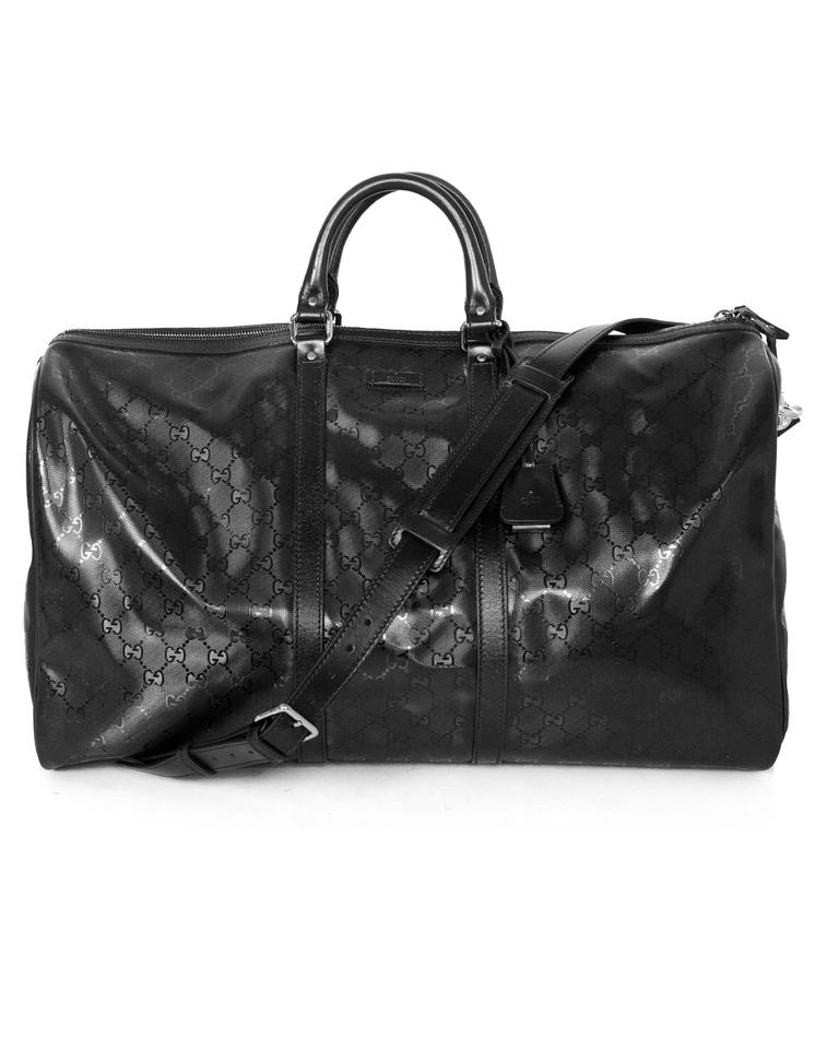 1700bf9b4 Gucci Imprime Monogram Large Duffle with Db Black Coated Canvas ...