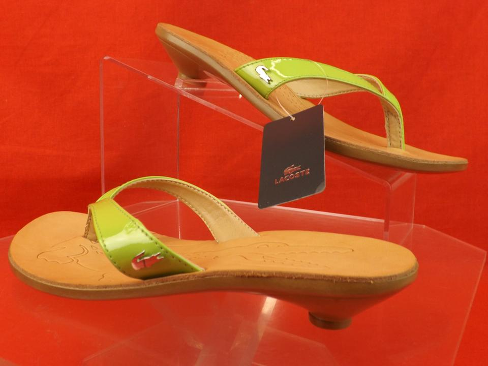 17e5c503f Green   Acacia Patent Leather Kitten Heel Thong Flip Sandals Size US ...