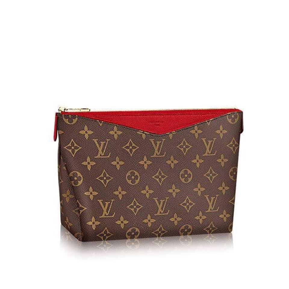 louis vuitton monogram pallas 2018 new with clutch cosmetic bag tradesy. Black Bedroom Furniture Sets. Home Design Ideas