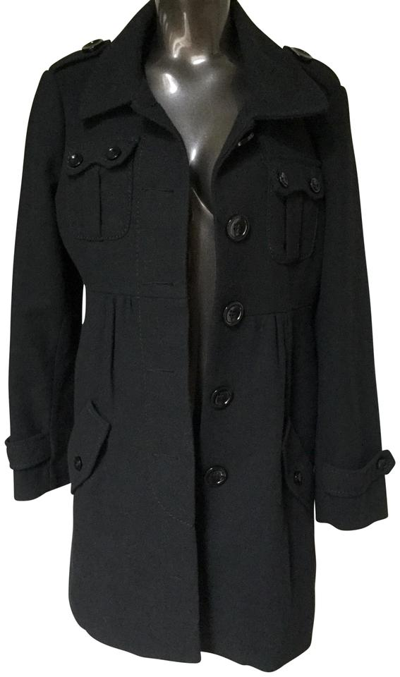 5e84b0abd9 Divided by H M Military Style Pea Coat Image 0 ...