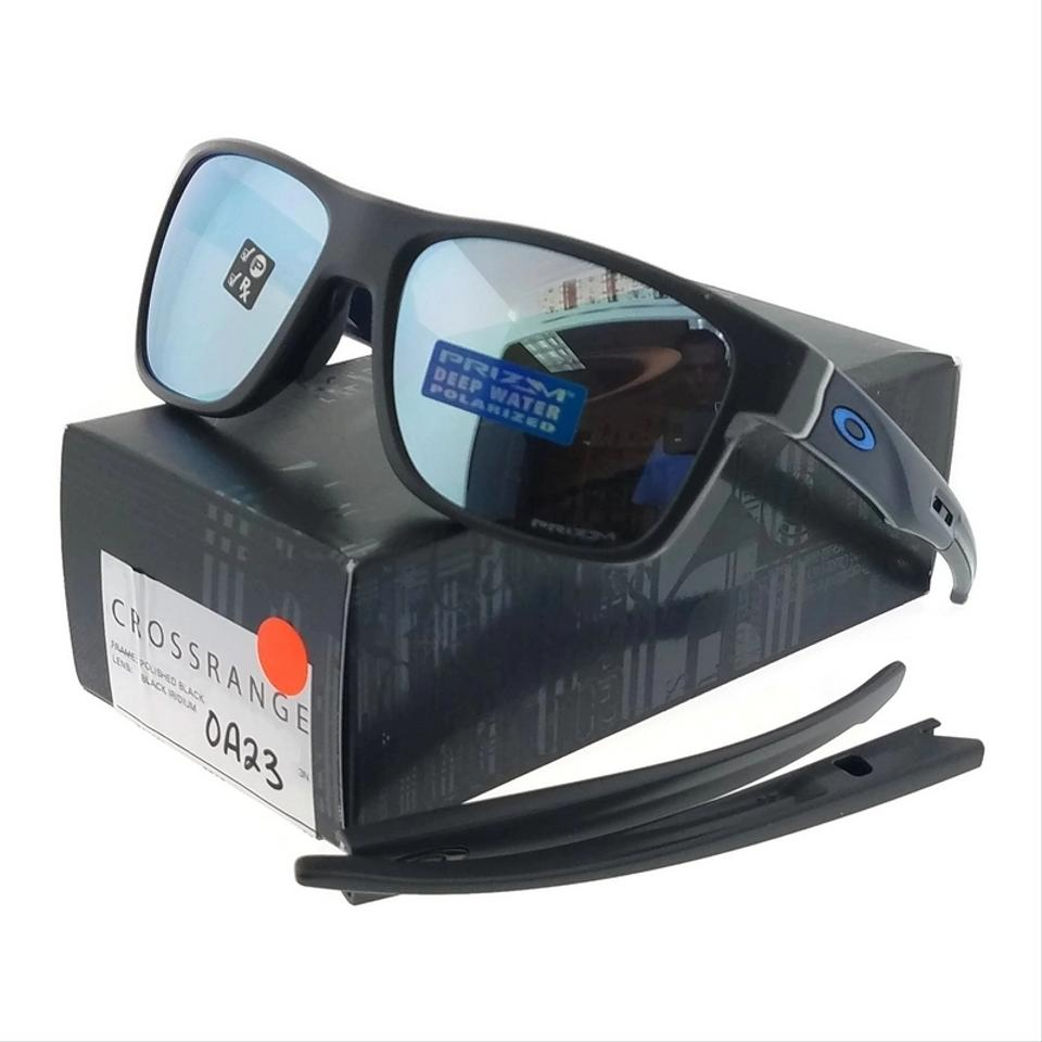 8bb7dc4d2c Oakley OO9361-09 Crossrange Grey Frame Prizm Blue lens Polarized Sunglasses  Image 0 ...