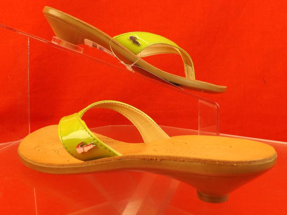 cc8211b66 Lacoste Green   Acacia New Patent Leather Kitten Heel Thong Flip ...