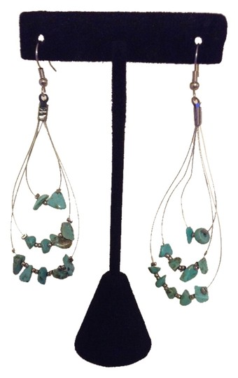 Other Hoop Style Earrings with Turquoise Chips