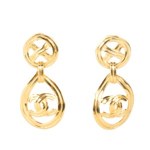 Chanel Chanel Gold Drop Earrings NWT
