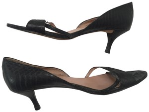 Vero Cuoio Kitten Heels Sandals Made In Italy black Pumps