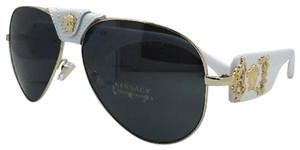 1bf79b23ef8d Versace New VERSACE Sunglasses VE 2150-Q 1341 87 Gold   White Aviator w