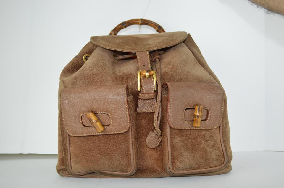Gucci Camel Leather Backpack - Tradesy