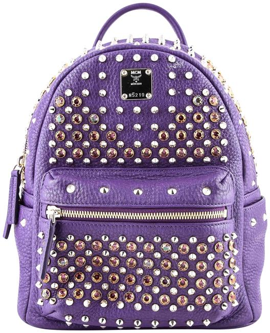 Item - Special Stark Studded Purple Canvas Backpack