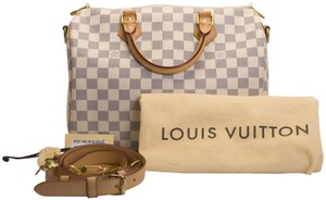 Louis Vuitton Speedy Bandouliere Damier Speedy 30 Azur Shoulder Bag