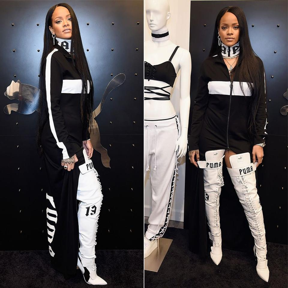 d0cd4a1ebd3 FENTY PUMA by Rihanna Black New-fenty-puma-by-rihanna-over-the-knee -eskiva-boxing-boots 35.5 5.5 Boots Booties