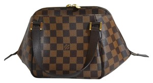Louis Vuitton Mini Bags Pochette Damier Ebene Check Mini Satchel in Brown