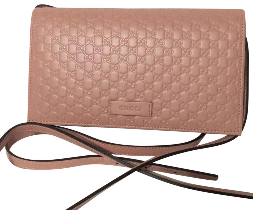 cf029e5f47d0 Gucci Wallet on Chain Gg Leather Pink Cross Body Bag - Tradesy