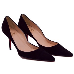 Christian Louboutin Pointed Toe Iconic Black Suede Pumps