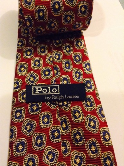 """Polo Ralph Lauren Polo by Ralph Lauren Men's Red and Blue 100% Silk Classic Neck tie 57"""" 3 """" wide"""