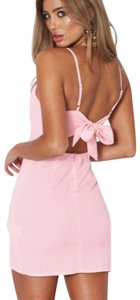 White Fox short dress Pink on Tradesy