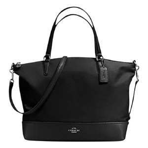 Coach Monogram Satchel 57902 Tote in Black nickel