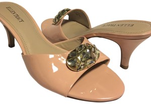 Ellen Tracy Jewel Patent Leather Pink Pumps