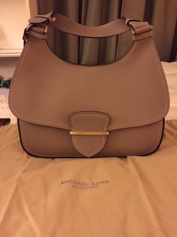 91f4d0da53df6f Michael Kors Collection Josie Dark Taupe French Calf Leather ...