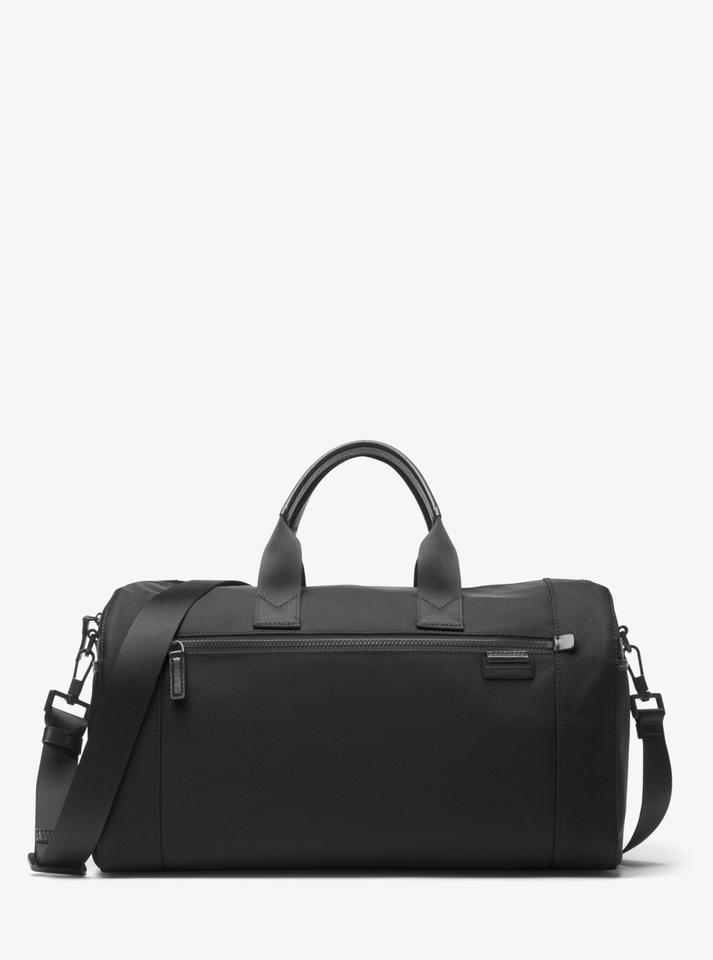Michael Kors Duffel Black Nylon Weekend Travel Bag